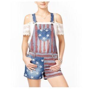 American Rag • Denim Short Overalls